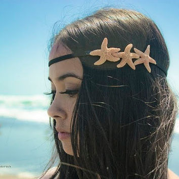 Starfish Headband  Triple Sugar Starfish Hippie by dreamsbythesea