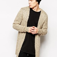 ASOS Longline Textured Cardigan at asos.com
