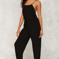 Leaps and Bounds Drawstring Jumpsuit