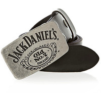 River Island MensBlack leather Jack Daniels belt