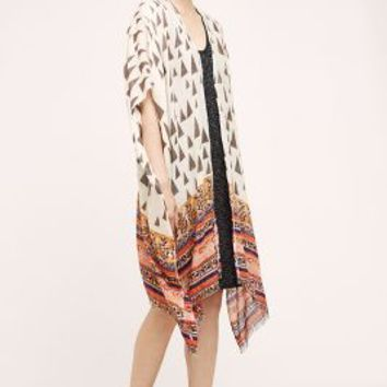 River Valley Kimono Scarf by Anthropologie in White Size: One Size Tops