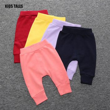 KIDS TALES 2017 Fall Winter Newborn Infant Baby Boys Girls Thick Pants Bloomers PP Long Haren Pants Bebe Leggings Free Shipping