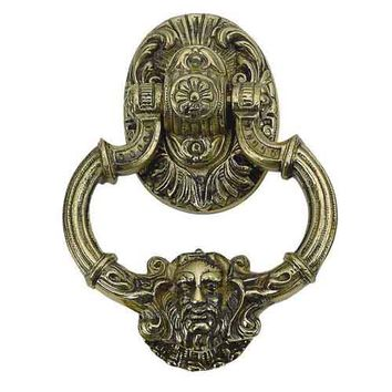 Brass Accents A04-K5060-609 Neptune Antique Brass Door Knocker - (In Antique Brass)