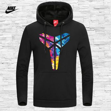 NIKE autumn new trend fashion men's sports long-sleeved hooded sweater black