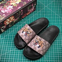 Gucci GG Supreme Tiger Slide Sandal #1  - Best Online Sale
