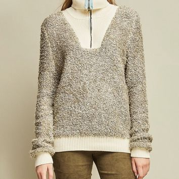 Terry Cloth Pullover Top
