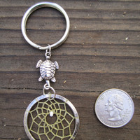 Turtle Dream Catcher Keychain