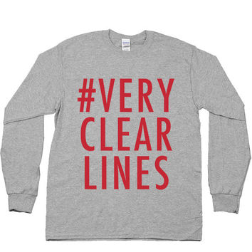 Very Clear Lines -- Unisex Long-Sleeve