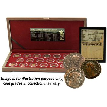 The Decline and Fall of the Roman Empire: Box of 20 Bronze Coins of Ancient Rome