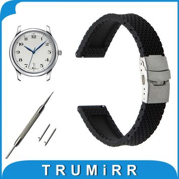 Quick Release Silicone Rubber Watch Band 17mm 18mm 19mm 20mm 21mm 22mm 23mm for Longines L2 L3 L4 Master Flagship Conquest Strap