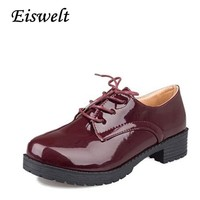 2017 New Women Platform Low Heel Autumn High Quality Oxfords Solid Plain PU Leather Creepers Casual Oxford Shoes Woman #HDS17