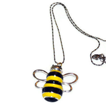Necklace With Bumble Bee Charm Focal by By5Jewelry on Etsy