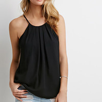 Pleated Halter Combo Top