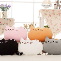 Novelty Baby soft plush stuffed animal doll toys cats bolster wedding birthday children gift pillow cushion