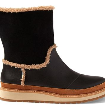 TOMS - Women's Makenna Black Leather Suede Boots