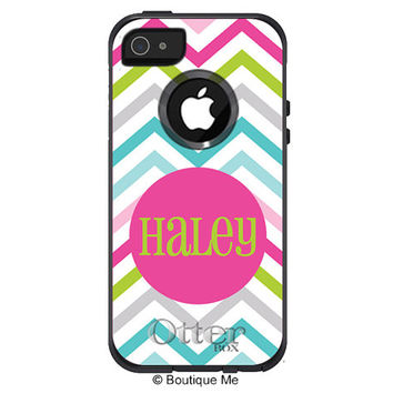Sassy Chevron Monogrammed Otterbox Commuter Case for iPhone 4, iPhone5c, iPhone 5, Galaxy S3, Galaxy S4, iPod Touch 4, iPhone 3 & MORE