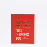 Do One Thing Every Day That Inspires You: A Creativity Journal Book - Urban Outfitters