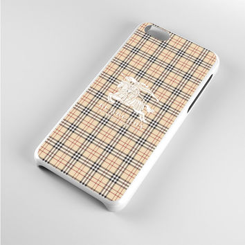Burberry White Logo iPhone 5c Case