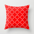 Moroccan Red Throw Pillow by House of Jennifer