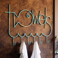 Fishing for Towels 6-Hook Metal Wall Rack