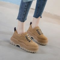 SWYIVY Genuine Leather Platform Sneakers Woman Increased Internal Casual Shoes Female Cow Hide Leather Sneakers Breathable Black