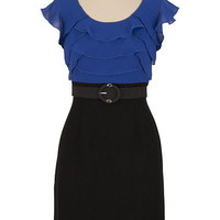 Belted Ruffle 2fer Dress