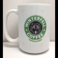 Game of Thrones Winterfell Coffee Mug Large 15oz Mug Starks