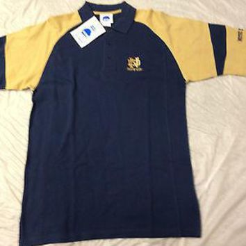 NOTRE DAME FIGHTING IRISH EMBROIDERED POLO GOLF SHIRT SHIPPING