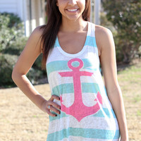 Anchors Away Tank - Mint
