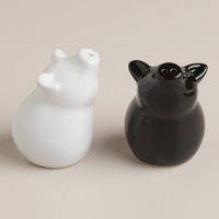 Sitting Pig Salt and Pepper Shakers, Set of 2 - World Market