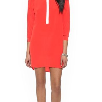 Mason by Michelle Mason Shirtdress with Front Contrast