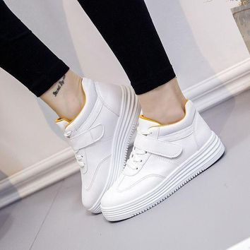 Casual Comfort On Sale Hot Deal Stylish Hot Sale High Top Thick Crust Platform Shoes Summer Korean Sneakers [415610077220]