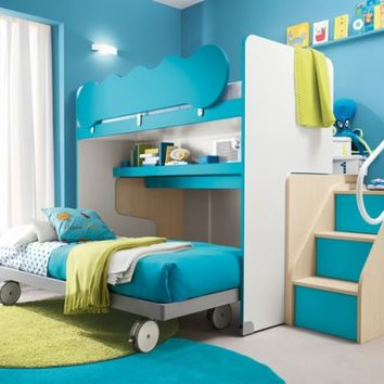 Modern Kids Bunk Beds With Stair Case