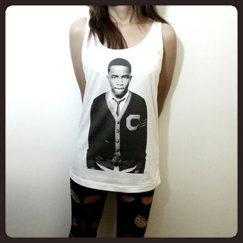 Frank Ocean Singer Billboard Women Sleeveless Tank Top Tanktop Tshirt T Shirt