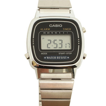 Silver Mini Digital Watch