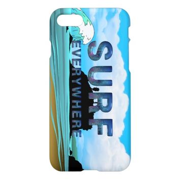 TOP Surf Everywhere iPhone 7 Case