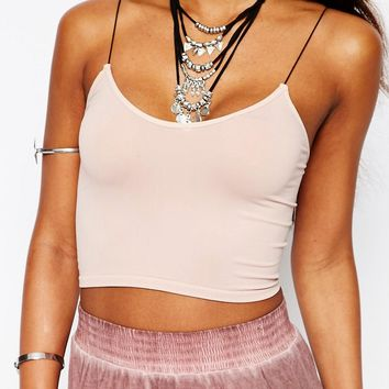 Free People Seamless Skiny Strap Cami Top