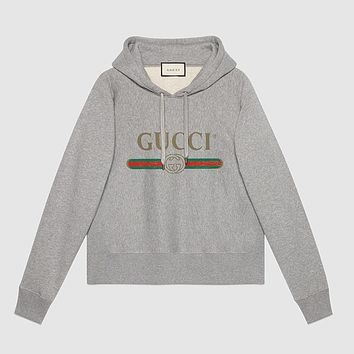 Men's GUCCI Print Pullover Top Sweater Hoodie