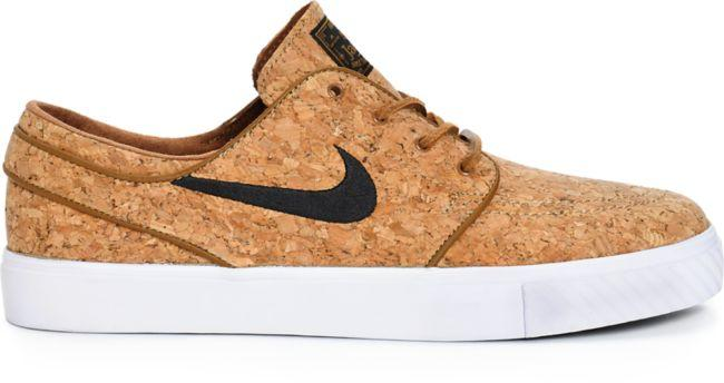 uk availability e09ca a3bfe Nike SB Zoom Stefan Janoski Cork Elite Ale Brown Skate Shoes