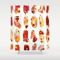 floral bits Shower Curtain by Clemm