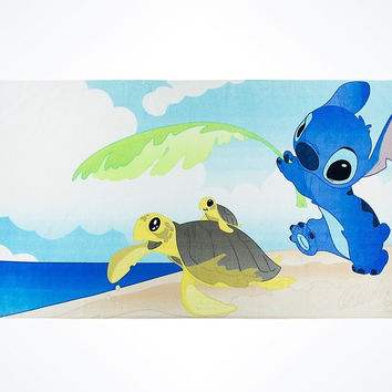 Disney Parks Stitch and Sea Turtles Beach Towel New with Tags