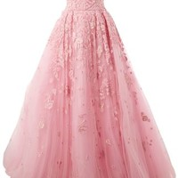 Zuhair Murad Embroidered Design Flared Gown - L'eclaireur - Farfetch.com
