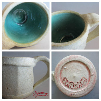 Expresso Mug Set of 4 - Tan and Seafoam
