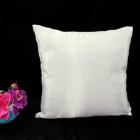 Stiff White Faux Dupioni Silk Taffeta Cushion Cover Case All Size#stfcc-51