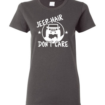 Jeep Hair Don't Care Ladies Jeep T-Shirt