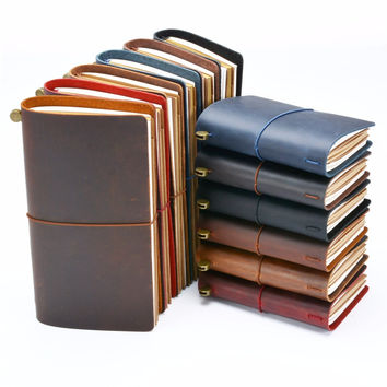Moterm Genuine leather notebook Handmade travelers notebook Classic vintage style Cowhide diary journal buy 1 get 10 accessories