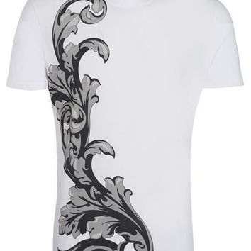 VERSACE COLLECTION T-shirt V800683S VJ00293 white 100% Cotton