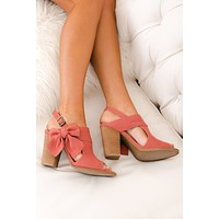 Love Always Not Rated Bow Booties (Terracotta)