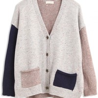 Stylish V Neck Knit Cardigan - OASAP.com