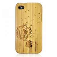 Bamboo IPhone4/4s Case - Carved Dandelion